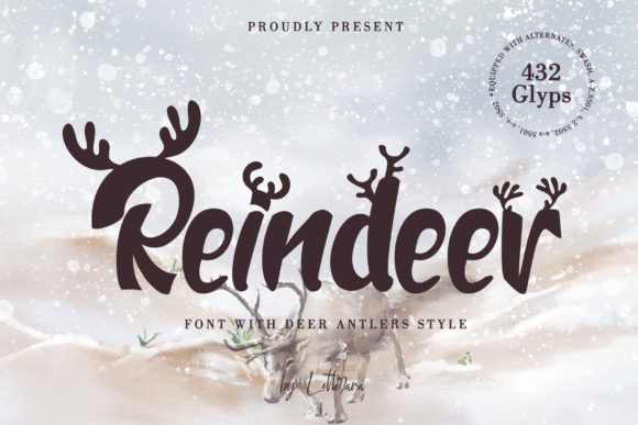 Reindeer Display Font By thomasaradea