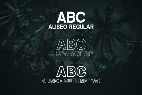 Print on Demand: Aliseo Sans Serif Font By RC graphics - Image 2