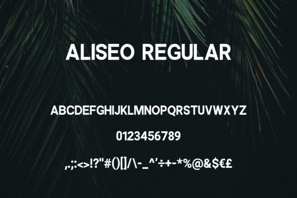 Aliseo Font By RC graphics Image 3