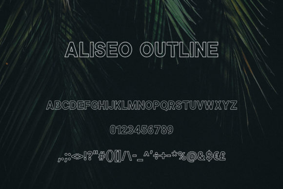Print on Demand: Aliseo Sans Serif Font By RC graphics - Image 4