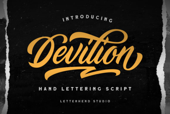 Print on Demand: Devilion Script & Handwritten Font By letterhend