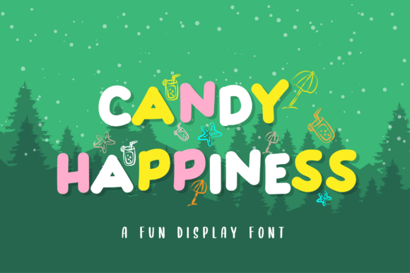 Print on Demand: Candy Happiness Display Font By anasofart