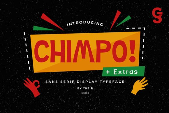 Print on Demand: Chimpo Display Font By miaodrawing