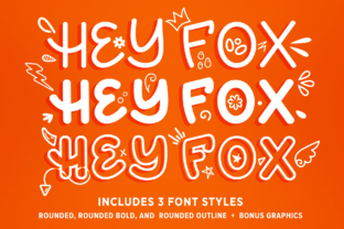 Hey Fox Rounded Font Trio Script & Handwritten Font By Running With Foxes