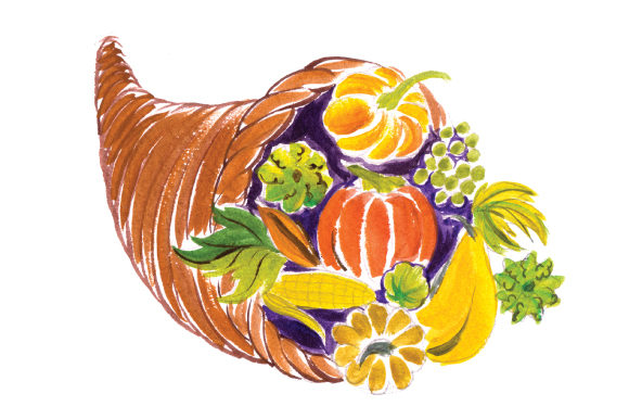 Cornucopia in Gouache Style Thanksgiving Craft Cut File By Creative Fabrica Crafts