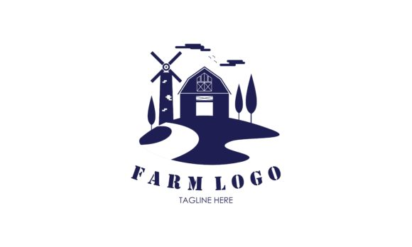 Download Free Flat Farm House Logo Vector Graphic By 2qnah Creative Fabrica for Cricut Explore, Silhouette and other cutting machines.