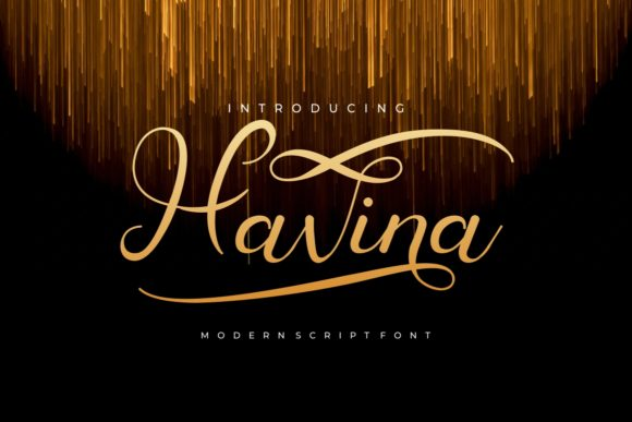 Print on Demand: Havina Script & Handwritten Font By putracetol