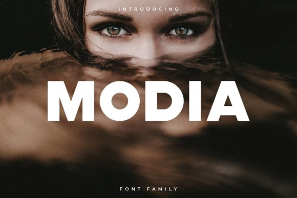 Print on Demand: Modia Sans Serif Fuente Por RC graphics