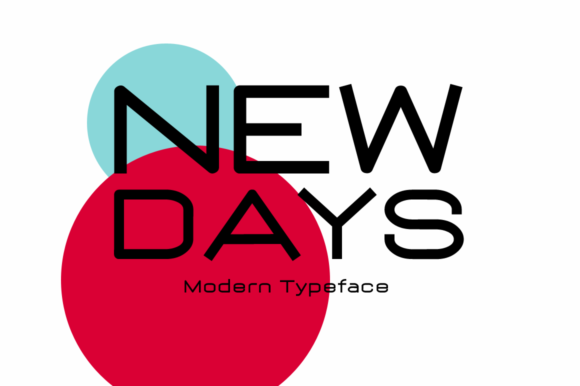 Print on Demand: New Days Display Font By Instagram Fonts