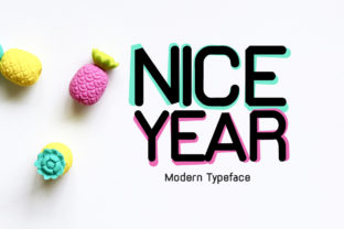 Print on Demand: Nice Year Display Font By Instagram Fonts 1