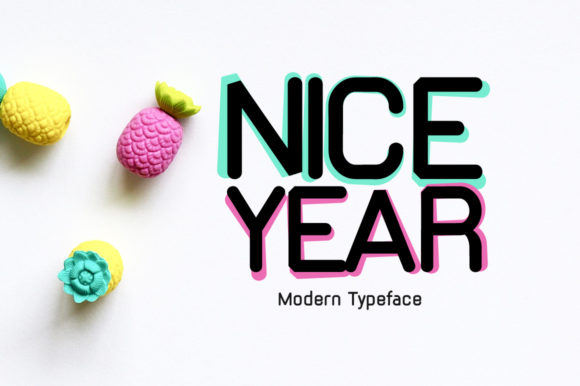 Print on Demand: Nice Year Display Font By FontEden