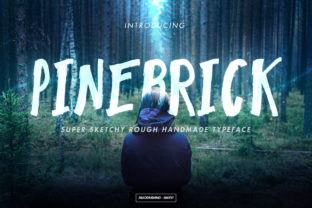 Pinebrick Font By miaodrawing
