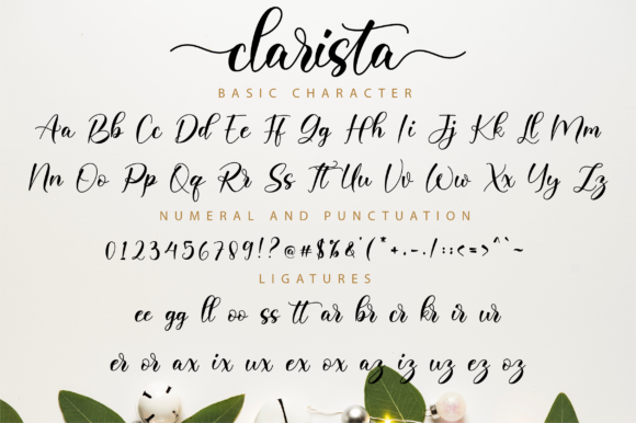 Print on Demand: Clarista Script Script & Handwritten Font By NissaStudio - Image 11
