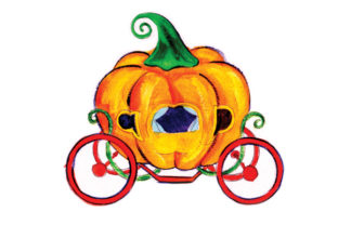 Pumpkin Carriage in Gouache Style Craft Design By Creative Fabrica Crafts