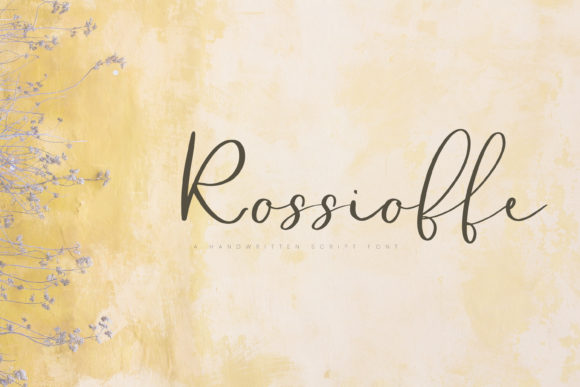 Print on Demand: Rossioffe Script & Handwritten Font By Primafox Design