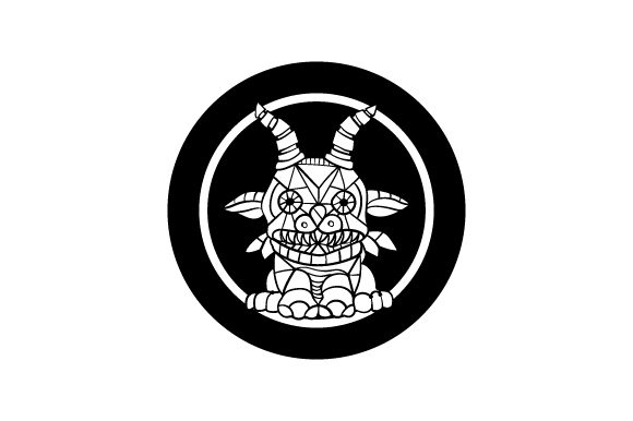 Download Free Small Gargoyle Mandala Style Svg Cut File By Creative Fabrica for Cricut Explore, Silhouette and other cutting machines.
