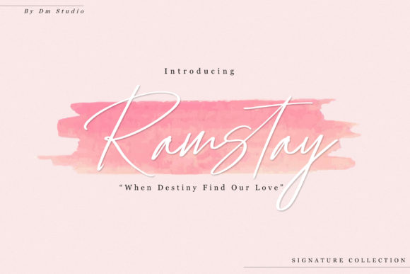 Print on Demand: Ramstay Script & Handwritten Font By dmletter31