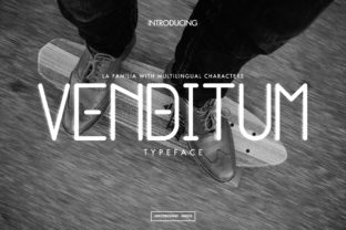 Venditum Font By miaodrawing