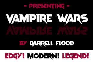 Download Free Vampire Wars Font By Dadiomouse Creative Fabrica for Cricut Explore, Silhouette and other cutting machines.