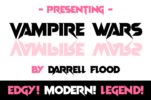 Print on Demand: Vampire Wars Display Font By Dadiomouse - Image 2
