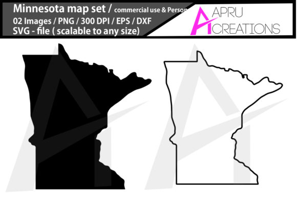 Print on Demand: Minnesota Map/ Minnesota Outline Crafte Graphic Icons By aparnastjp