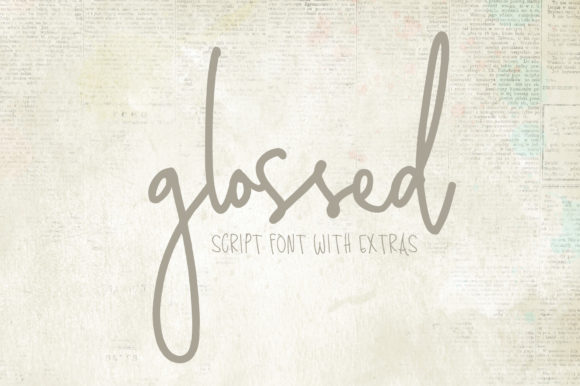 Print on Demand: Glossed Script & Handwritten Font By affinitygrove