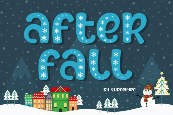 Print on Demand: After Fall Display Font By Subectype - Image 1