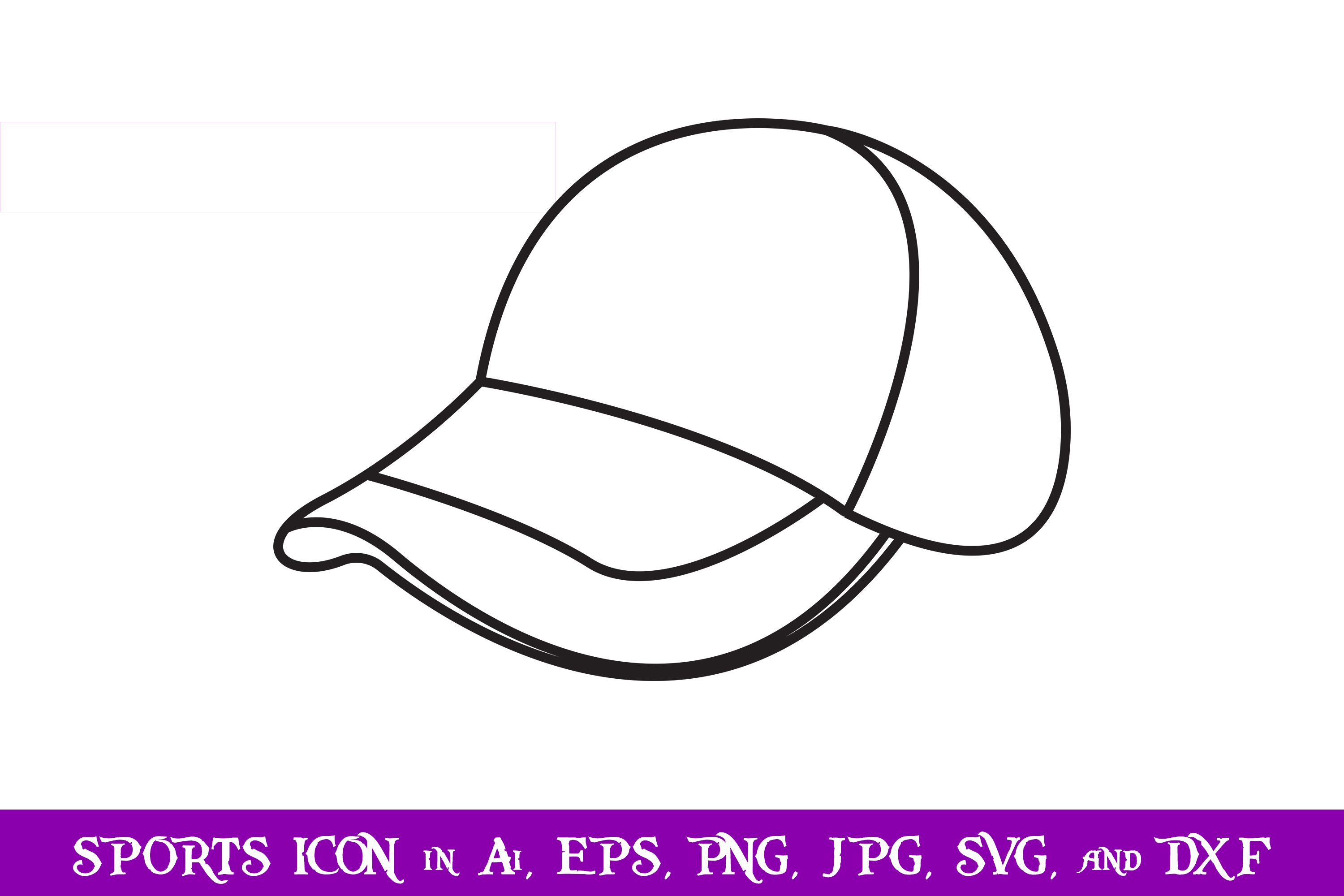 Download Free Hat Baseball Sport Icon Graphic By Purplespoonpirates Creative for Cricut Explore, Silhouette and other cutting machines.