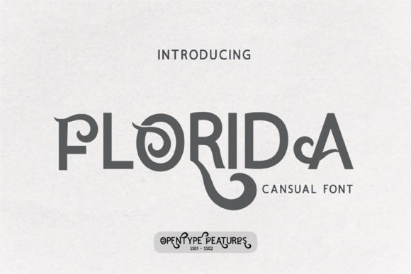 Print on Demand: Florida Serif Font By ed.creative