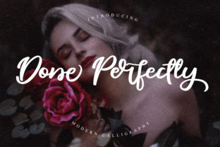 Done Perfectly Font By Abascreative