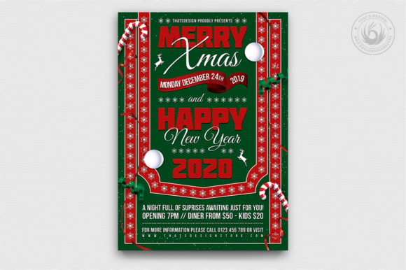 Christmas Eve Flyer Template V10 Graphic By ThatsDesignStore