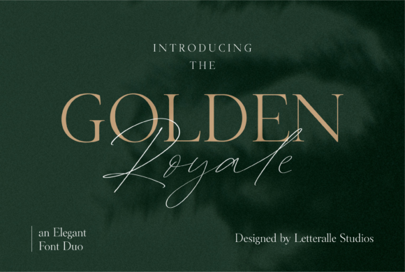 Print on Demand: Golden Royale Duo Script & Handwritten Font By Letteralle