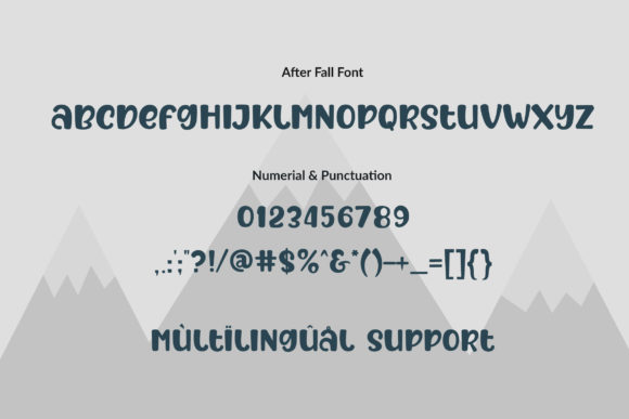 Print on Demand: After Fall Display Font By Subectype - Image 2