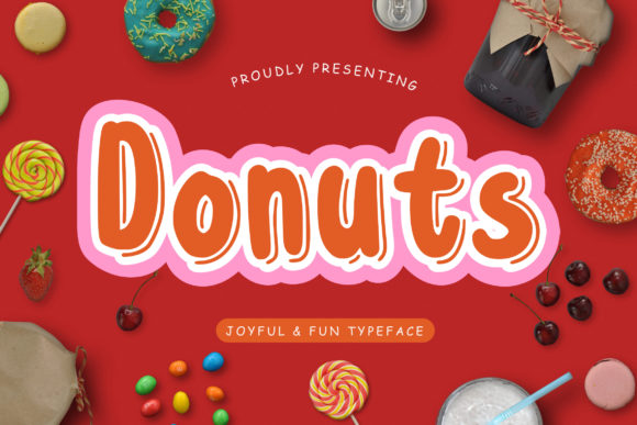 Print on Demand: Donuts Display Font By CreatypeStudio