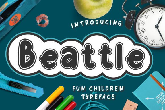 Print on Demand: Beattle Display Font By CreatypeStudio - Image 1