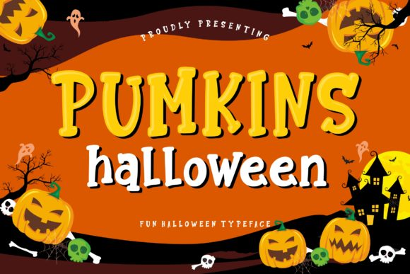 Print on Demand: Pumkins Halloween Display Font By CreatypeStudio