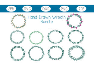Hand-Drawn Wreath Bundle Graphic By capeairforce