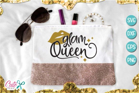 Glam Queen, Makeup Graphic Illustrations By Cute files