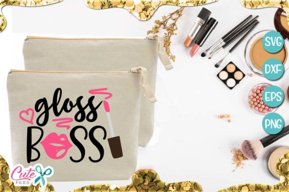 Gloss Boss, Makeup Graphic Illustrations By Cute files
