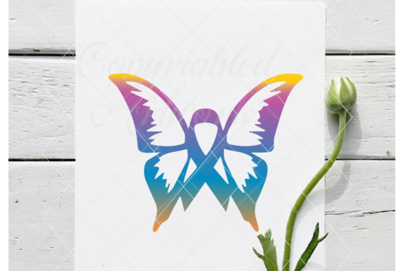 Print on Demand: Butterfly Ribbon Graphic Crafts By TheLoveByrds