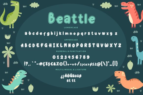 Print on Demand: Beattle Display Font By CreatypeStudio - Image 7