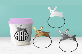 Bunny Rabbit Monogram Bundle Graphic By capeairforce