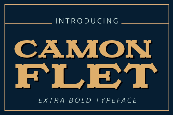 Camonflet Font By TanveerType Image 1