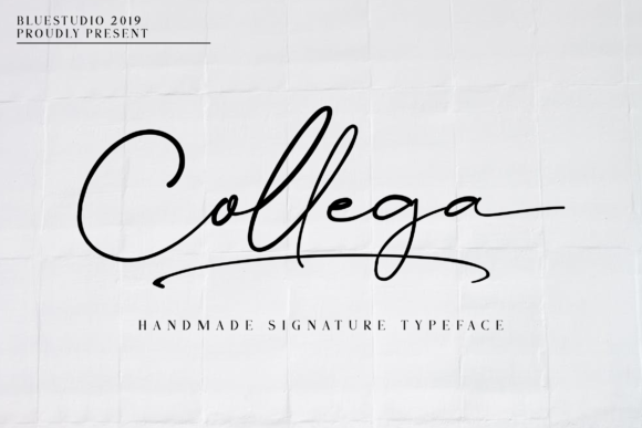 Print on Demand: Collega Script & Handwritten Font By Bluestudio