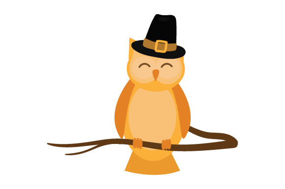 Cute Owl Wearing Pilgrim Hat Thanksgiving Craft Cut File By Creative Fabrica Crafts