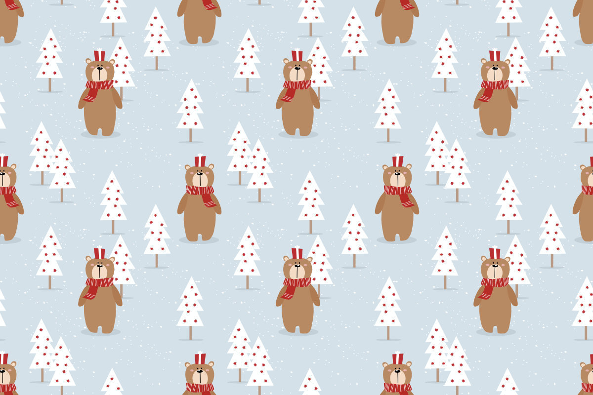 Download Free Cute Bear And Christmas Gift Graphic By Thanaporn Pinp for Cricut Explore, Silhouette and other cutting machines.