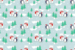 Cute Polar Bear and Penguin in Christmas Graphic By thanaporn.pinp