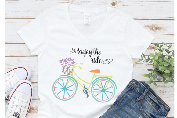 Print on Demand: Bicycle Enjoy the Ride Graphic Crafts By TheLoveByrds
