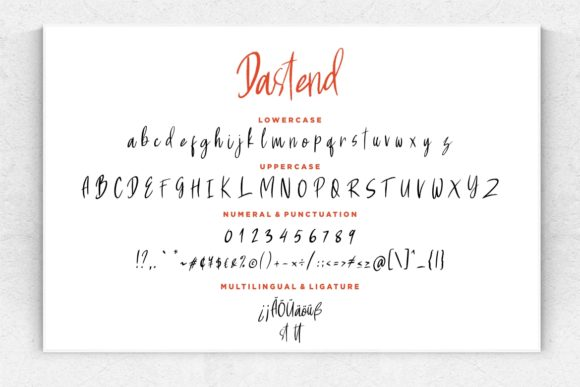 Print on Demand: Dastend Script & Handwritten Font By CreatypeStudio - Image 7