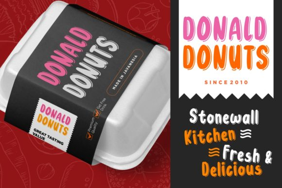 Print on Demand: Donuts Display Font By CreatypeStudio - Image 5
